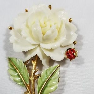 Vintage custom jewelry brooches pin enamel celluli